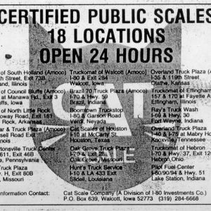 Newspaper Advertisement from 1986
