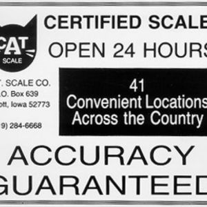 There are now 41 CAT Scale Locations! Advertisement from early 1990's.